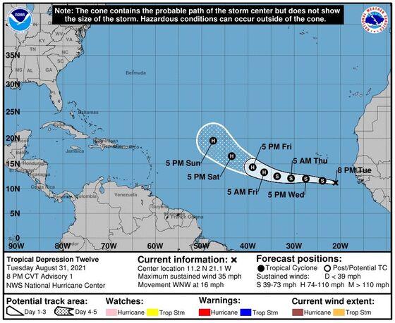 New Atlantic Storm Takes Shape Off Africa Coast Near Cabo Verde