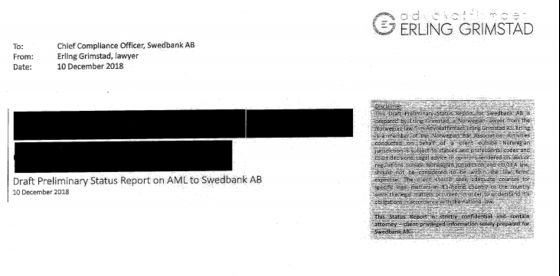 Sealed Envelope Takes Center Stage in Swedbank Laundering Drama