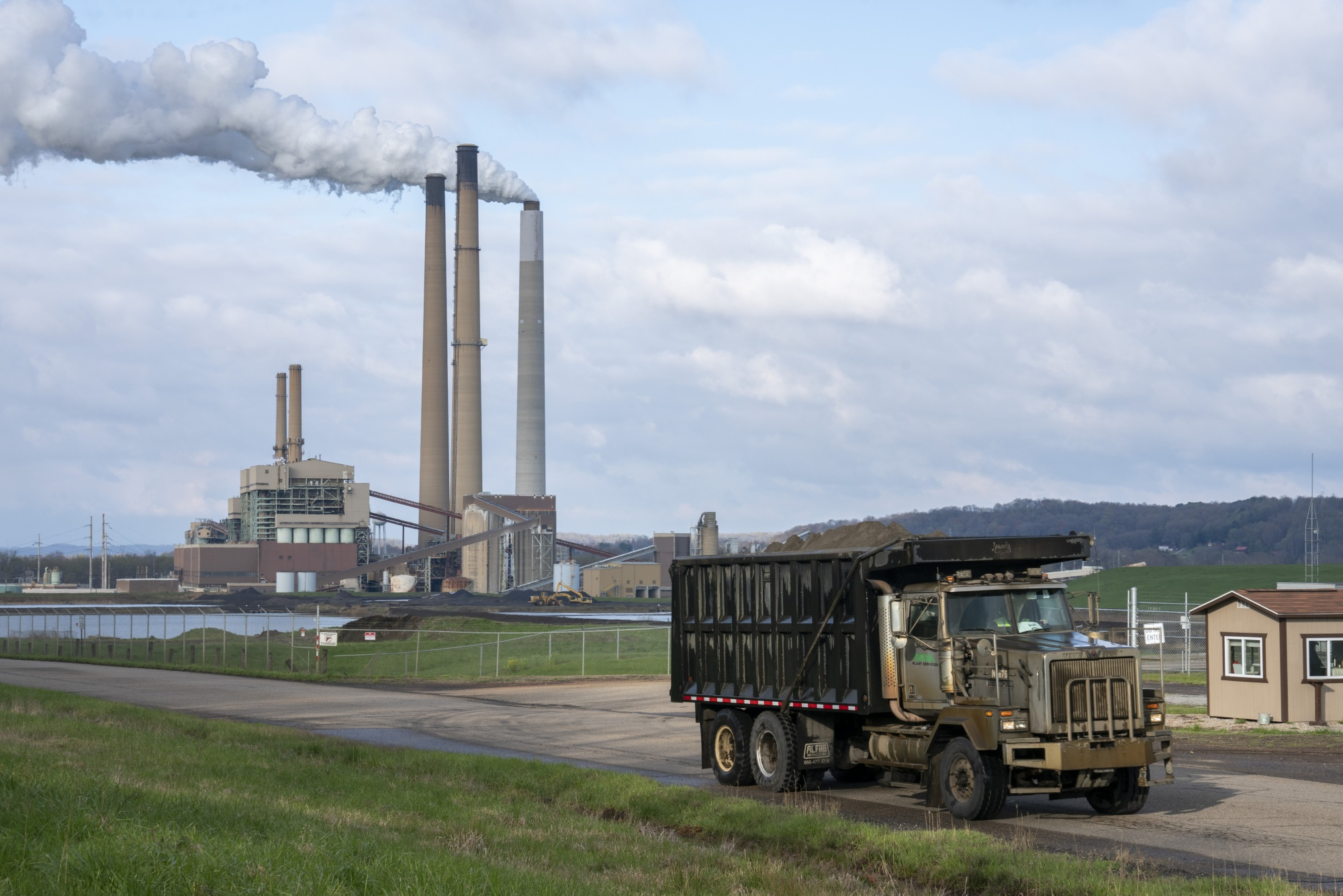 A coal-fired power plant in Conesville, U.S.