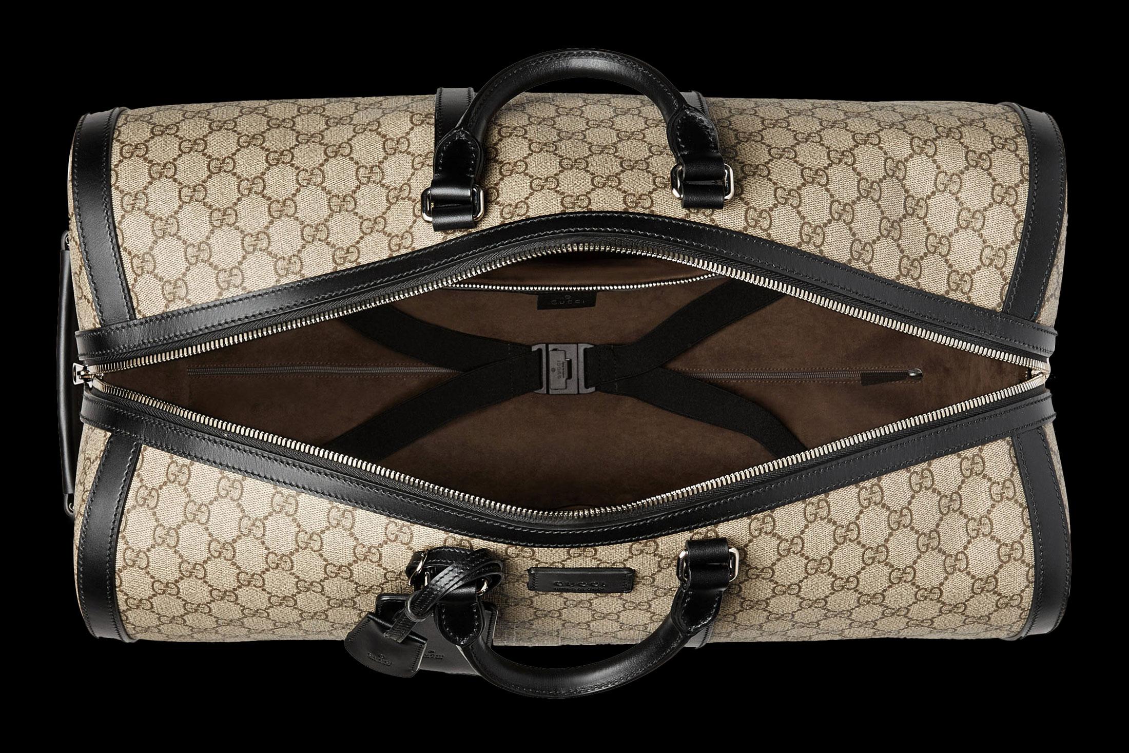 The GG Supreme duffel, Gucci $2,480, gucci.com