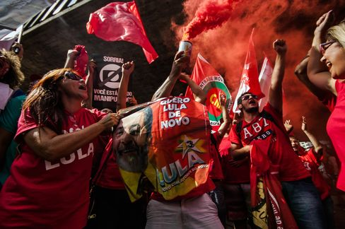 Workers' Party Supporters in Sao Paulo.