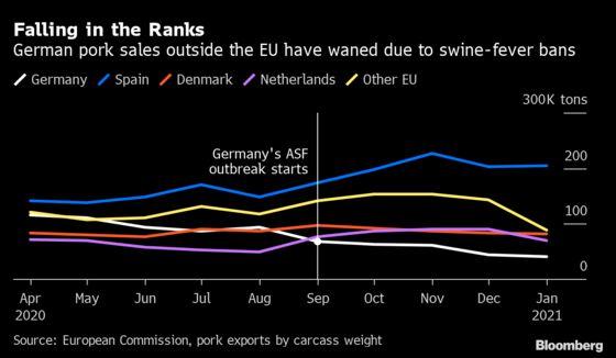 Germany Tops 1,000 Swine Fever Cases as Virus Fight Drags On