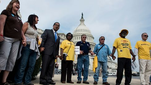 Demonstrators protest cuts to Social Security in Washington, D.C.