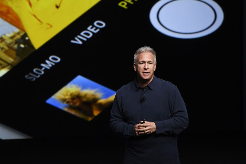 Phil Schiller unveils the new iPhone 7 during an event in San Francisco on Sept. 7, 2016.
