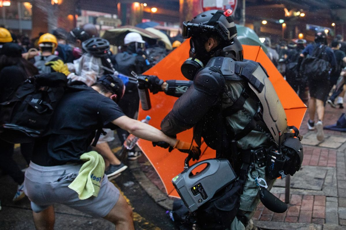 Hong Kong Holiday Protests Small as Stricken City Cleans Up