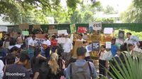 relates to Climate Change Protesters Rally Around the Globe