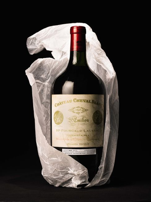 Double magnum of Chateau Cheval Blanc 1947 Bordeaux
