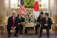 U.S. President Donald Trump to Face Off With Japan's Abe Over Trade On Third Day of Visit