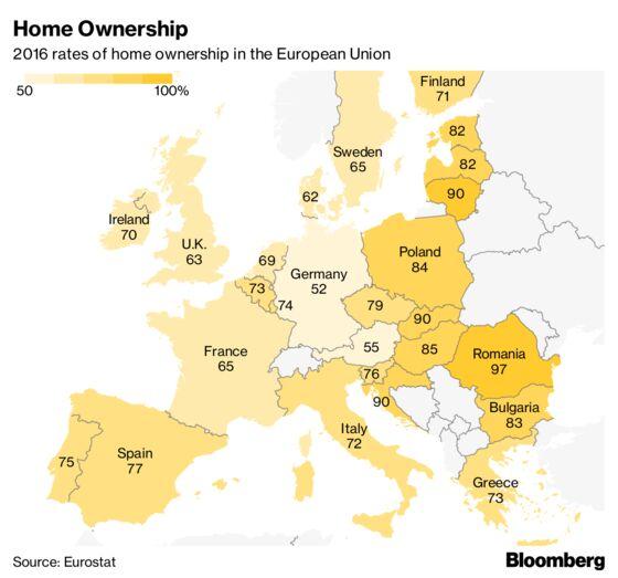 British Homeownership RatesWorst Hit by Financial Crisis: Map