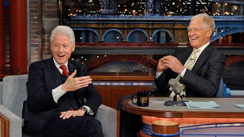 President Bill Clinton makes his final appearance on the Late Show with David Letterman, Tuesday May 12, 2015 on the CBS Television Network.