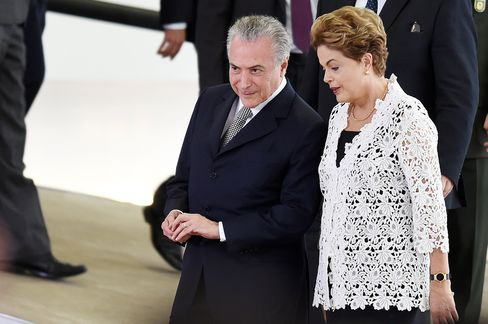 Michel Temer and Dilma Rousseff