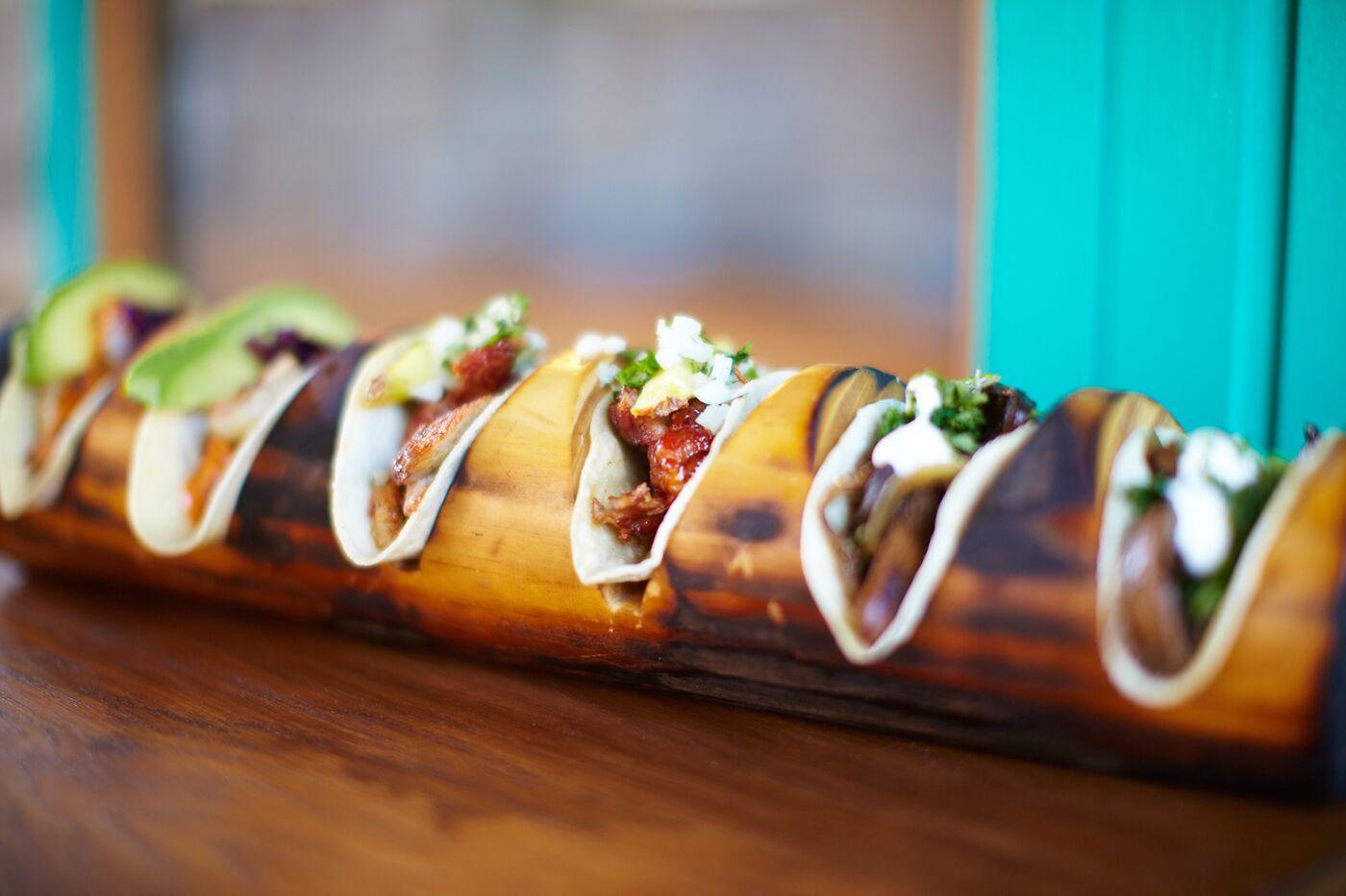La Bodega Negra Cafe's selection of tacos.