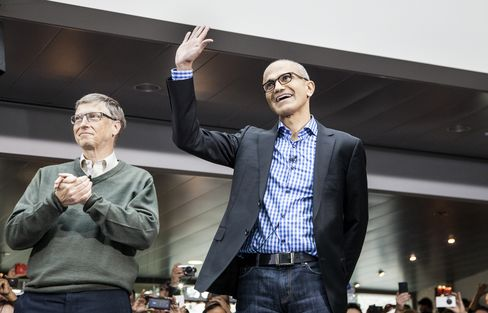 Microsoft CEO Satya Nadella & Founder Bill Gates