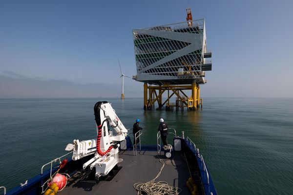 Offshore Wind Farm In The Southwest Sea