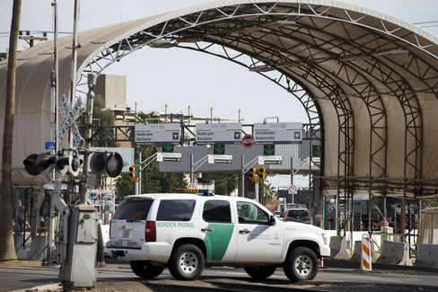 A U.S. Border Station in Calexico