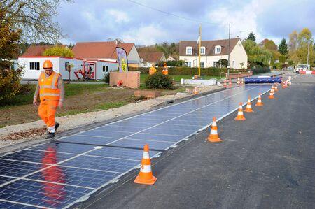 Wattway's solar road in Tourouvre