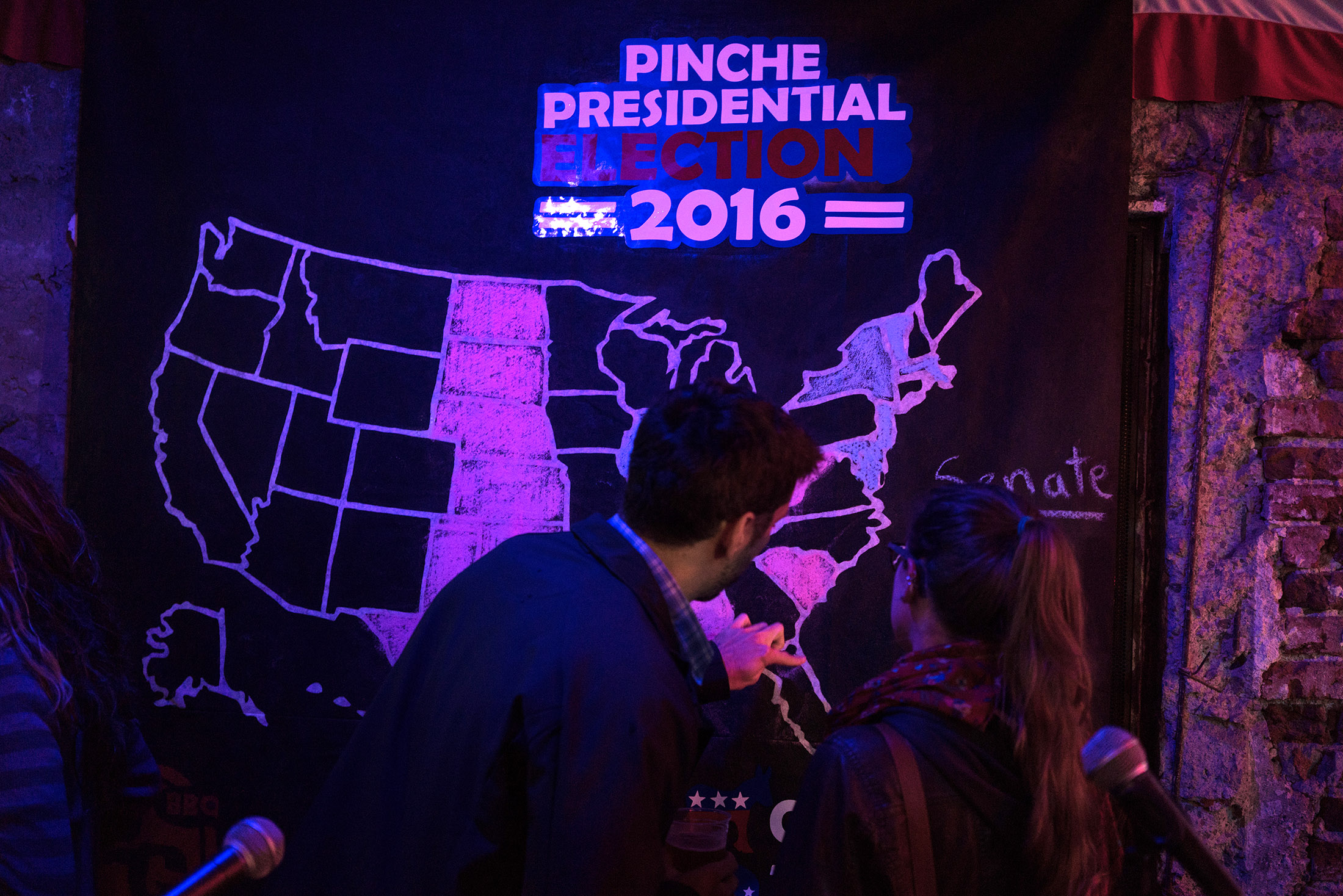 Watch People Around The World React To The US Election Results - Purple map of the us election