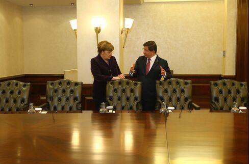 German Chancellor Angela Merkel in Ankara