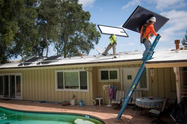 A Solar Panel Retrofit Install As California Becomes First State To Order Solar On New Homes