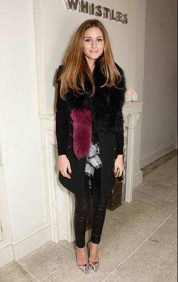 Olivia Palermo attends the Whistles presentation at London Fashion Week AW14 at 33 Fitzroy Place on February 17, 2014 in London, England.