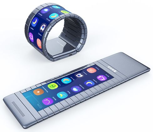 The bendable smartphone based on graphene technology.