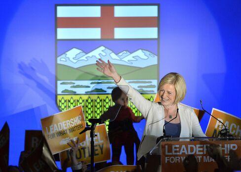 New Democratic Party Leader Rachel Notley