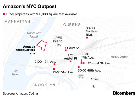 Amazon Is a Long Way From Settling Down in Chosen NYC Home
