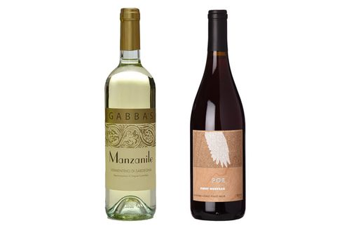 2015 Gabbas Manzanile Vermentino and 2014 Poe Pinot Nouvea.