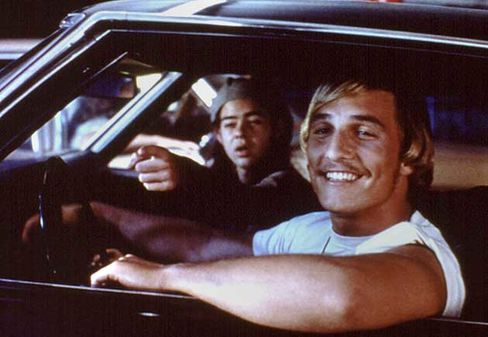 Matthew McConaguhey and Rory Cochrane in Dazed and Confused