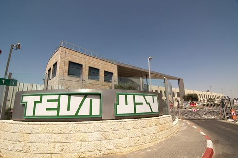 Teva Pharmaceutical Industries Headquarters Stand in Jerusalem