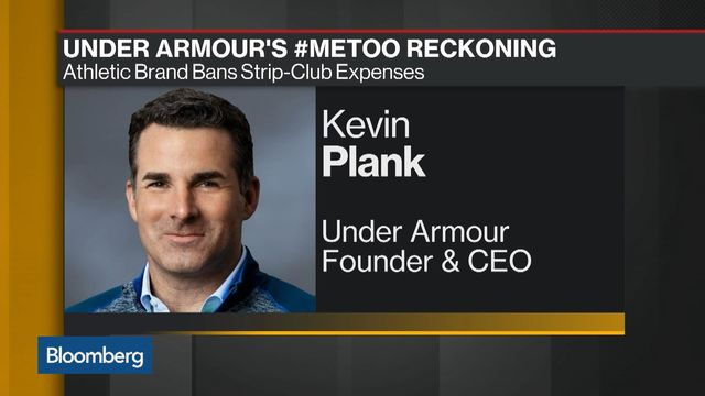mecánico Competitivo emoción  Under Armour Bans Strip-Club Expenses in #MeToo Reckoning - Bloomberg