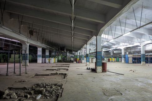 An abandoned textile factory.