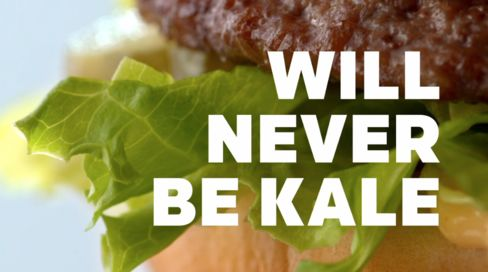 The anti-kale ad released by McDonald's earlier this year.