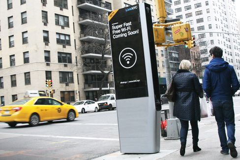 One of the new Link NYC kiosks.