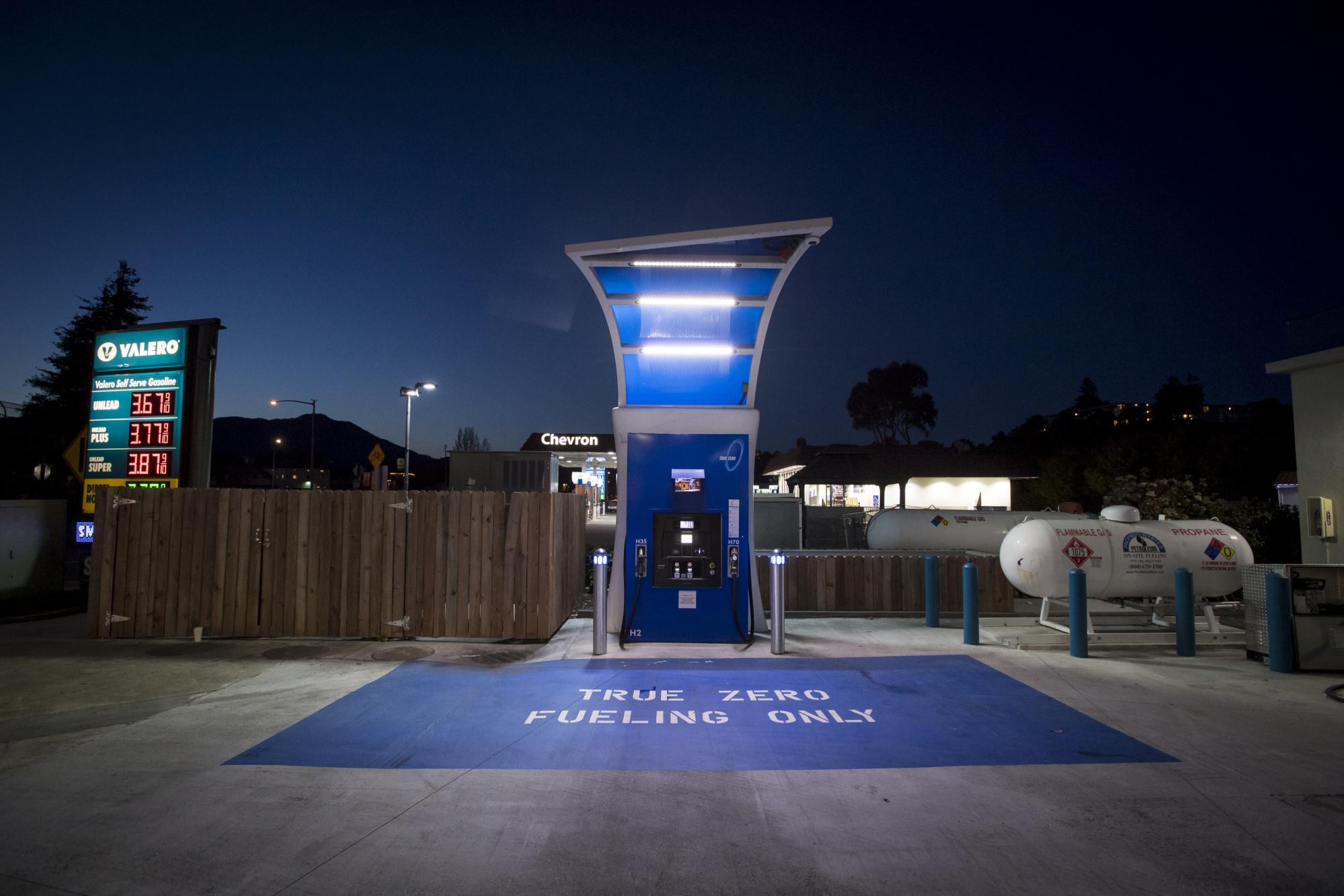 A hydrogen fueling pump in Mill Valley, California, U.S.