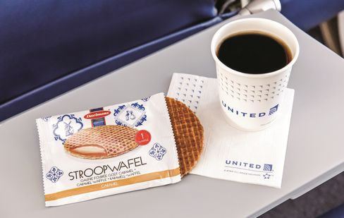 Complimentary stroopwafel. Source: Terry Halsey, United Airlines