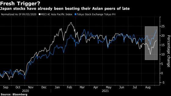 Japan Stocks Rally to Three-Decade High as Suga Plans to Quit