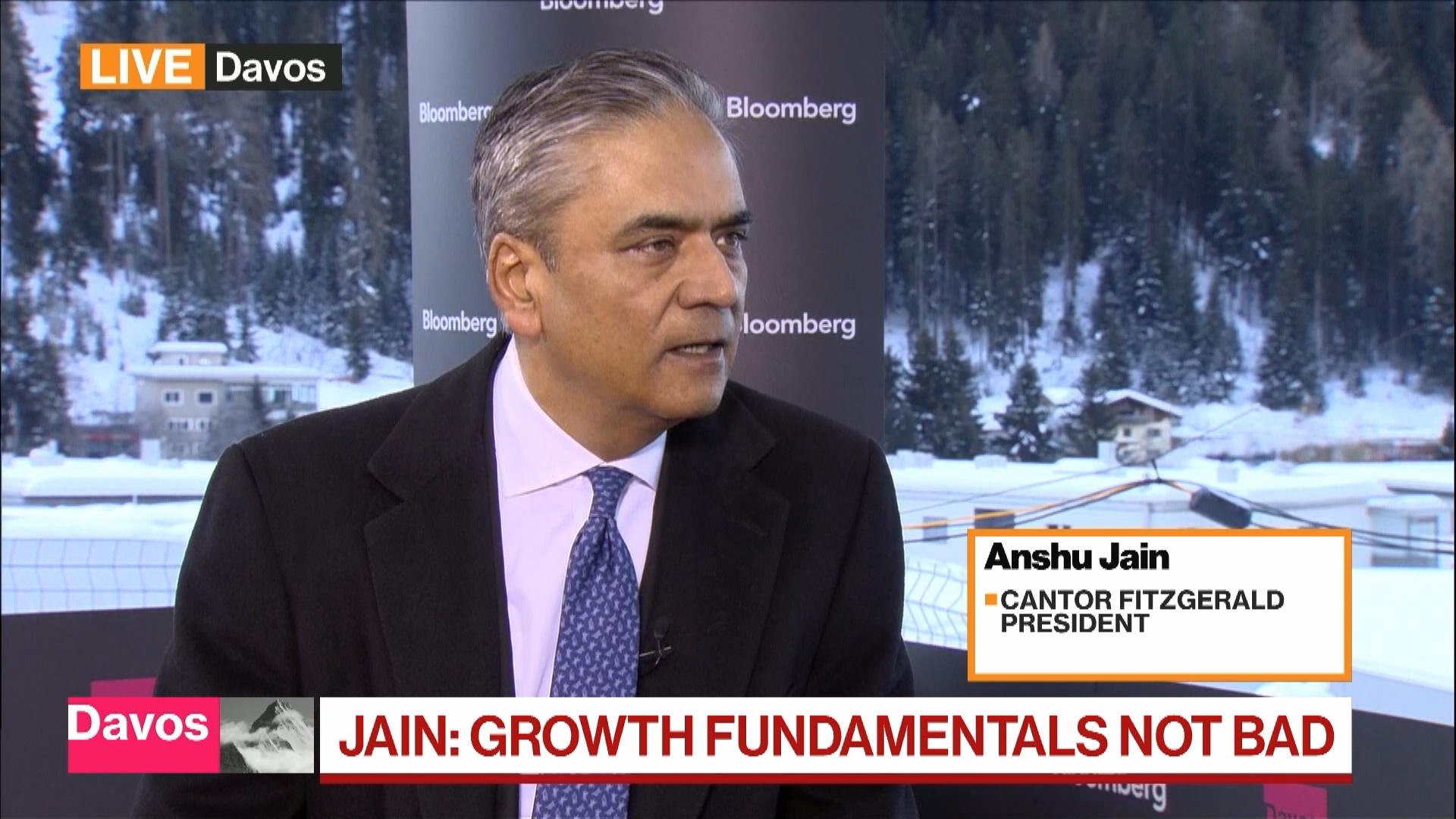 Davos: Cantor Fitzgerald President Anshu Jain Sees Stretched Credit Valuations as a Concern