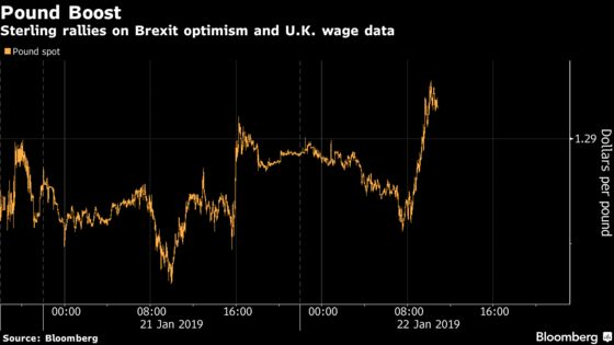 Pound Strengthens on Upbeat Wage Data, Cautious Brexit Optimism