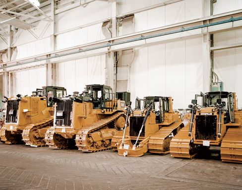 6,800 people work at Caterpillar's East Peoria factories, where six models of bulldozers are built