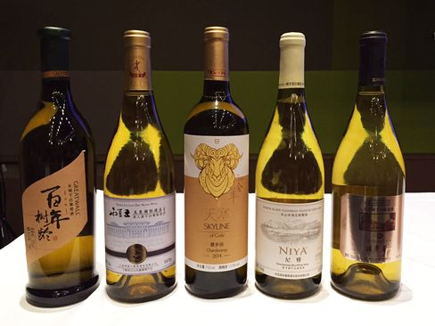 A selection of Chinese white wines from the tasting, including a few favorites.