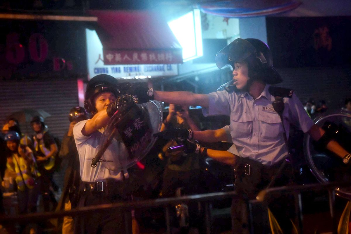 Hong Kong Police Defend Officer Firing Gun During Protest