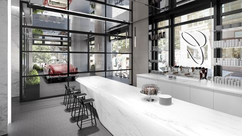 The coffee shop will have four seats at the counter, eight high-top seats at a table, and extended seating throughout the house.