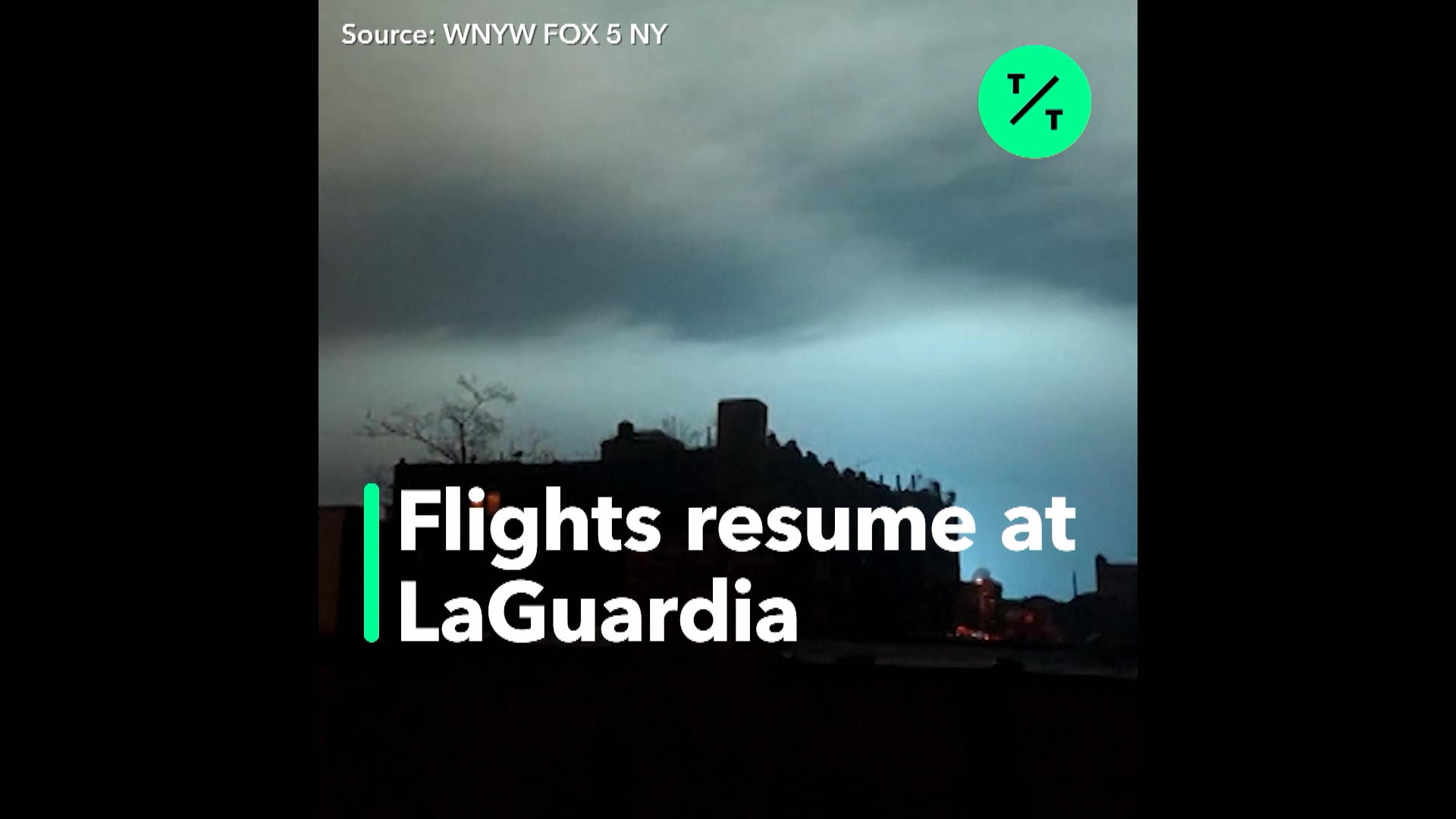 LaGuardia Flights Resume After Electric Blast Turns NYC Sky
