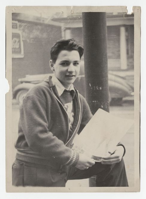 Gehry as a boy.