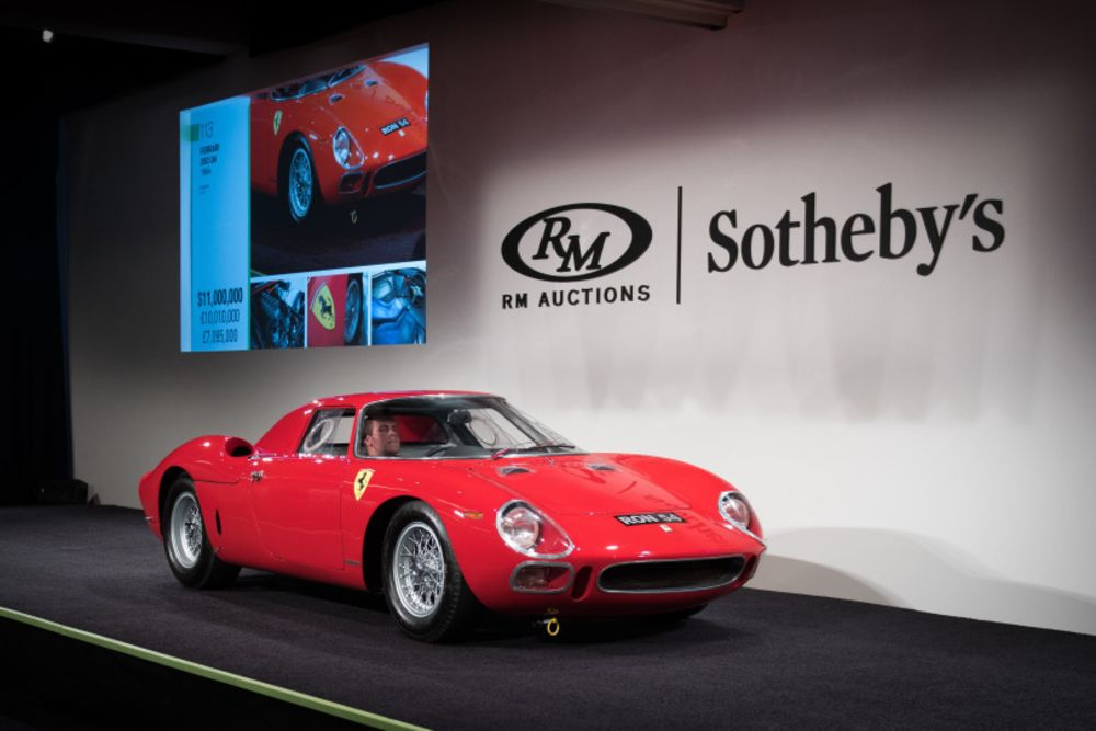Red Ferrari Race Car Leads Rm Sotheby S Record 67 Million Sale Bloomberg