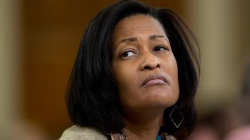 Cheryl Mills, former State Department chief of staff under Hillary Clinton, attends a House Select Committee on Benghazi hearing in Washington on Oct. 22, 2015.