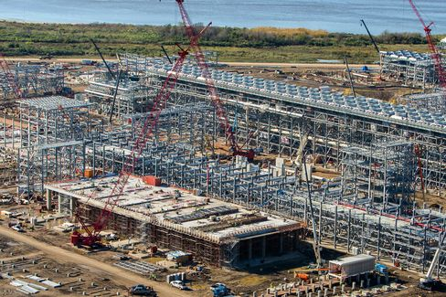 Cheniere Energy Louisiana Plant Under Construction