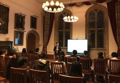 三菱商事がオックスフォード大学で行った会社説明会