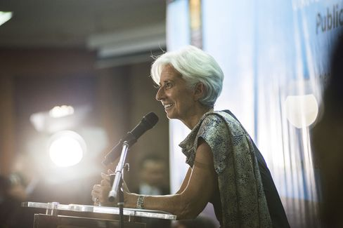 Christine Lagarde speaks in Jakarta